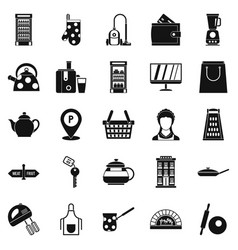 utensil icons set simple style vector image