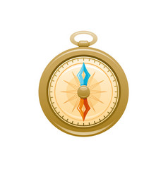 vintage compass icon 3d cartoon navigation vector image
