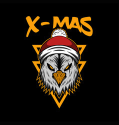 x mas eagle vector image