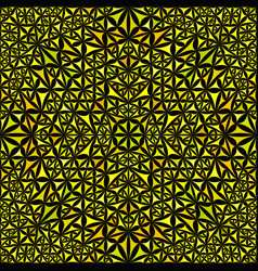 Yellow abstract repeating curved triangle mosaic vector