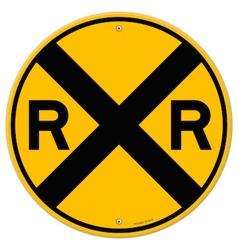 Yellow Rail Sign vector image vector image