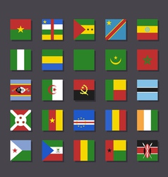 Africa flag icon set Metro style vector image vector image