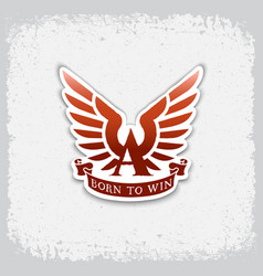 born to win label vector image vector image