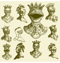 heraldry baroque armour vector image vector image