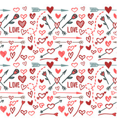love pattern color hearts and arrows vector image