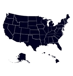 Set states in the map of america vector