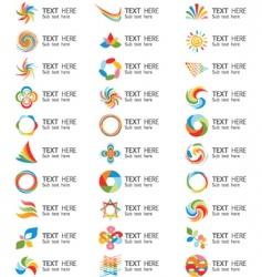 Swirl logos vector