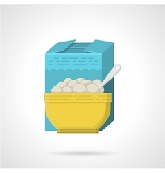 Breakfast cereal flat color icon vector