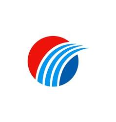 business round swoosh arrow finance logo vector image vector image