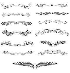Vintage elements ornaments Graceful curls vector image