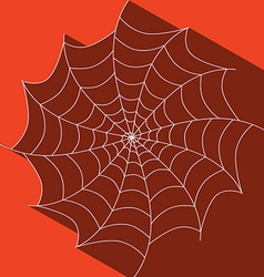 Abstract Cobweb on Red Background vector image
