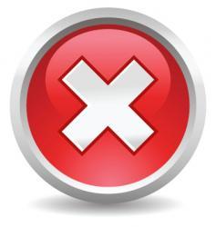 button delete vector image vector image