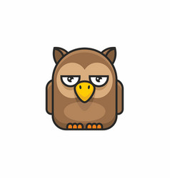 Cute owl icon on white background vector