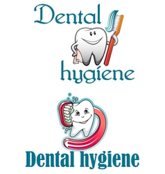 Dental hygiene logo vector image