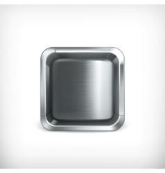 Metal box app icon vector image vector image