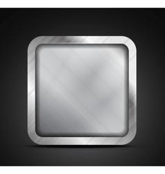 Mobile app icon - empty metallic texture box vector image