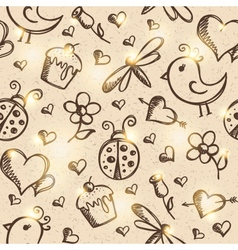 romantic seamless pattern eps 10 vector image vector image