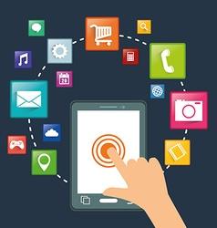 Smartphone applications design vector image vector image