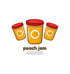 Template logo for peach jam vector