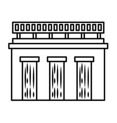 water dam icon vector image