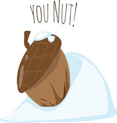You Nut vector image vector image