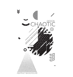 Chaotic Geometric Abstract Background vector image