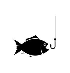 fishing icon vector image