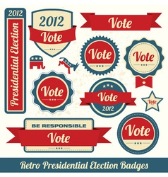 Retro Vote Stickers vector image