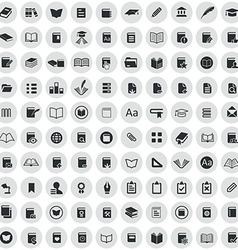 100 books icons vector image