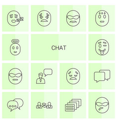 14 chat icons vector