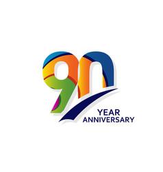 90 years elegant anniversary celebration template vector