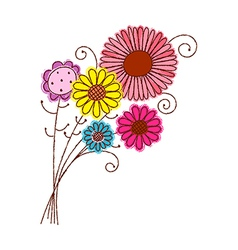 A bunch of flowers vector image