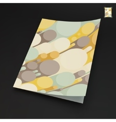 A4 business blank abstract 3d background vector
