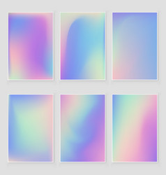Abstract holographic iridescent foil texture vector