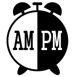 am pm1 vector image