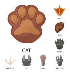 Animal and print symbol vector