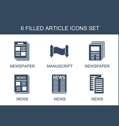 article icons vector image