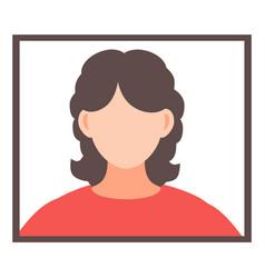 Avatar faceless brunette woman in frame vector