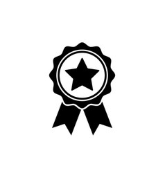 award icon in flat style rosette symbol vector image