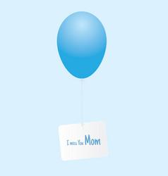 Balloon message to heaven vector