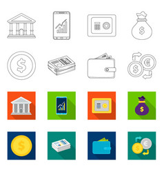 bank and money logo set of vector image