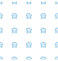 barbecue icon pattern seamless white background vector image