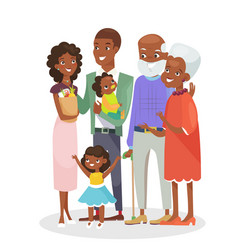 Big happy family portrait vector