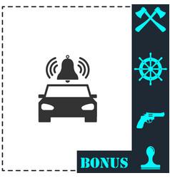 Car alarm icon flat vector