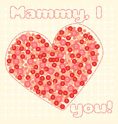 card to mothers day vector image