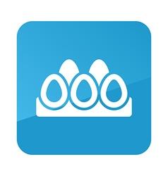 Chicken eggs in a tray icon Garden vector