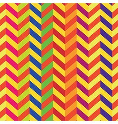 colorful chevron seamless pattern vector image