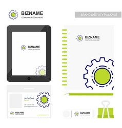 company design stationary items with tablet and vector image