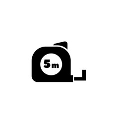 construction tape measure flat icon vector image