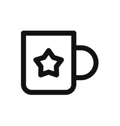 cup with star sign icon vector image